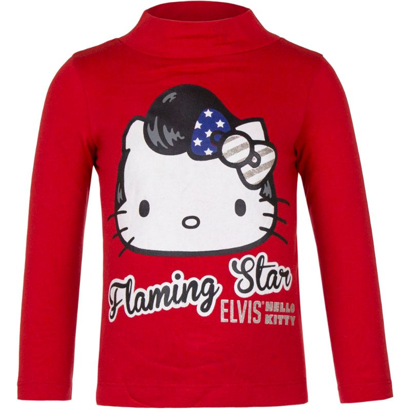 Neu Pulli Pullover Langarmshirt Hello Kitty blau pink weiß 104 116 128 140 #96