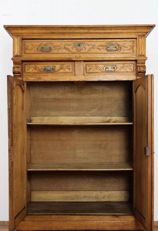 sch124 traumhaftes vertiko aus belgien um 1900 1920 jugendstil eiche ebay. Black Bedroom Furniture Sets. Home Design Ideas