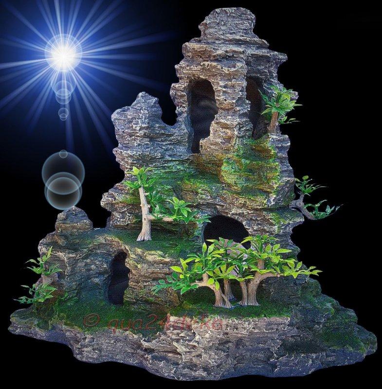 aquarium deko grotten h hlen xl h hle barsche terrarium dekoration zubeh r ebay. Black Bedroom Furniture Sets. Home Design Ideas