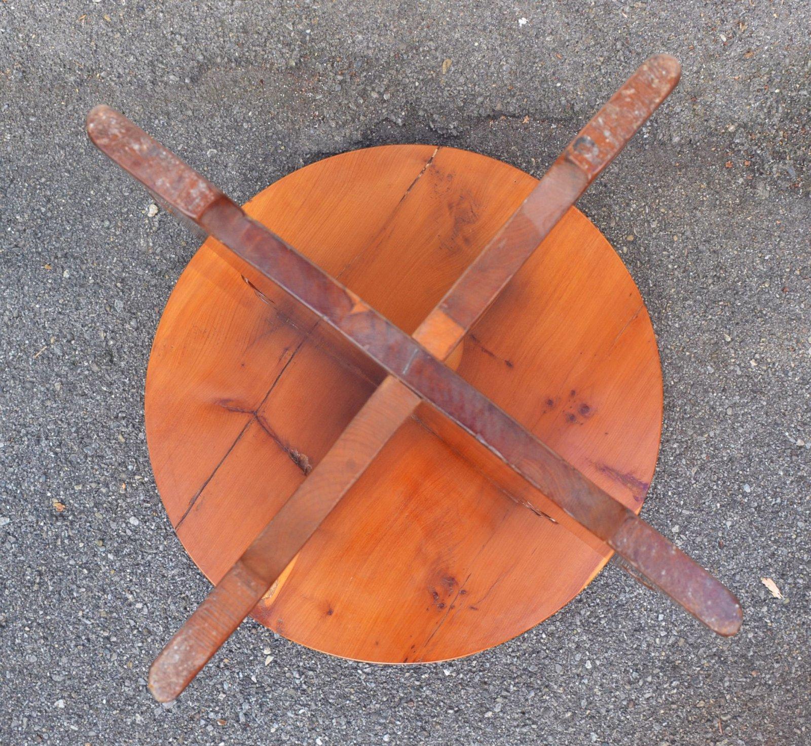 Kleiner runder beistelltisch aus massivem kirschholz ebay for Kleiner runder beistelltisch