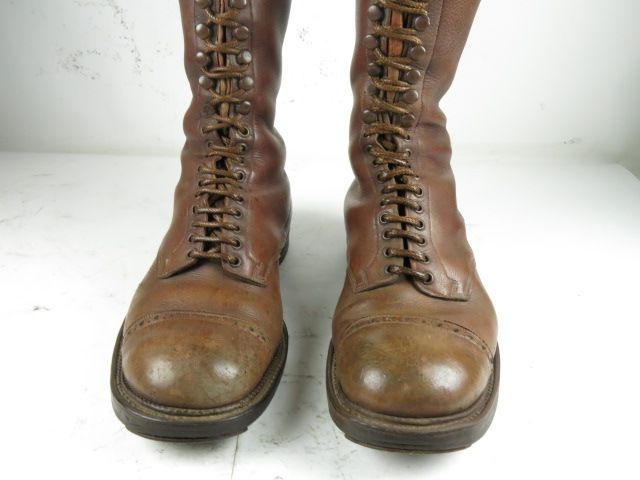 Shoes Motorcycle Retro About Boots 42 War Original Classic Before Lace Vintage Title Leather Details Up Show bfvYg76y