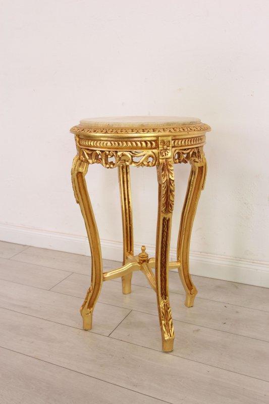 Coffeetable Teetisch Barock Blumenständer Tisch Beistelltisch Konsolentisch Holz
