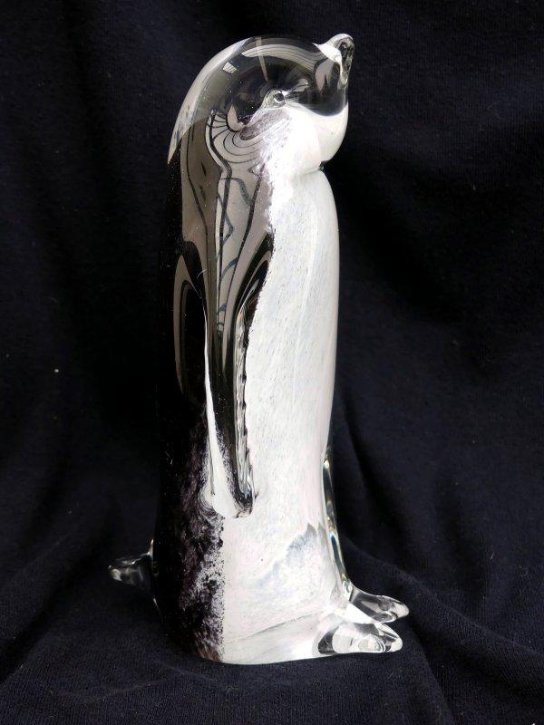 MINI Pinguin aus Glas 2 cm hoch handgefertigte Glasfigur Schönes Geschenk