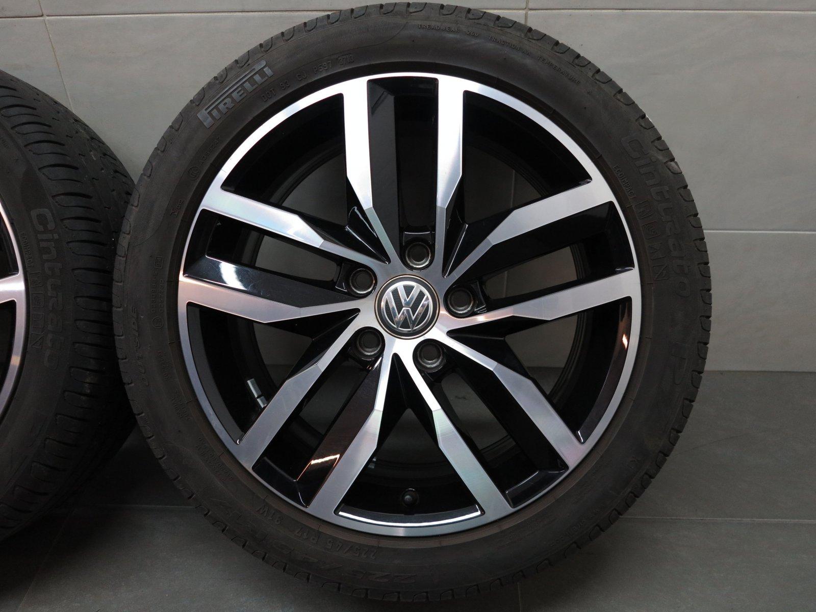 pneus d 39 t 17 pouces originales vw golf vii 5g madrid jante sportsvan ebay. Black Bedroom Furniture Sets. Home Design Ideas