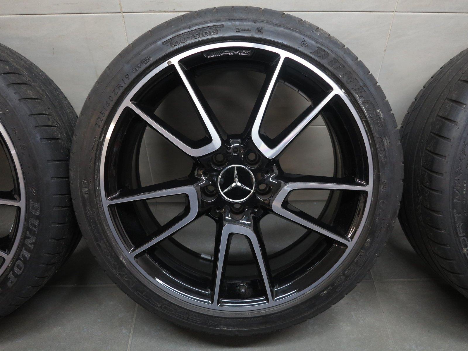19 inch summer wheels original mercedes c class c43 amg c450 sport rims a47 ebay. Black Bedroom Furniture Sets. Home Design Ideas