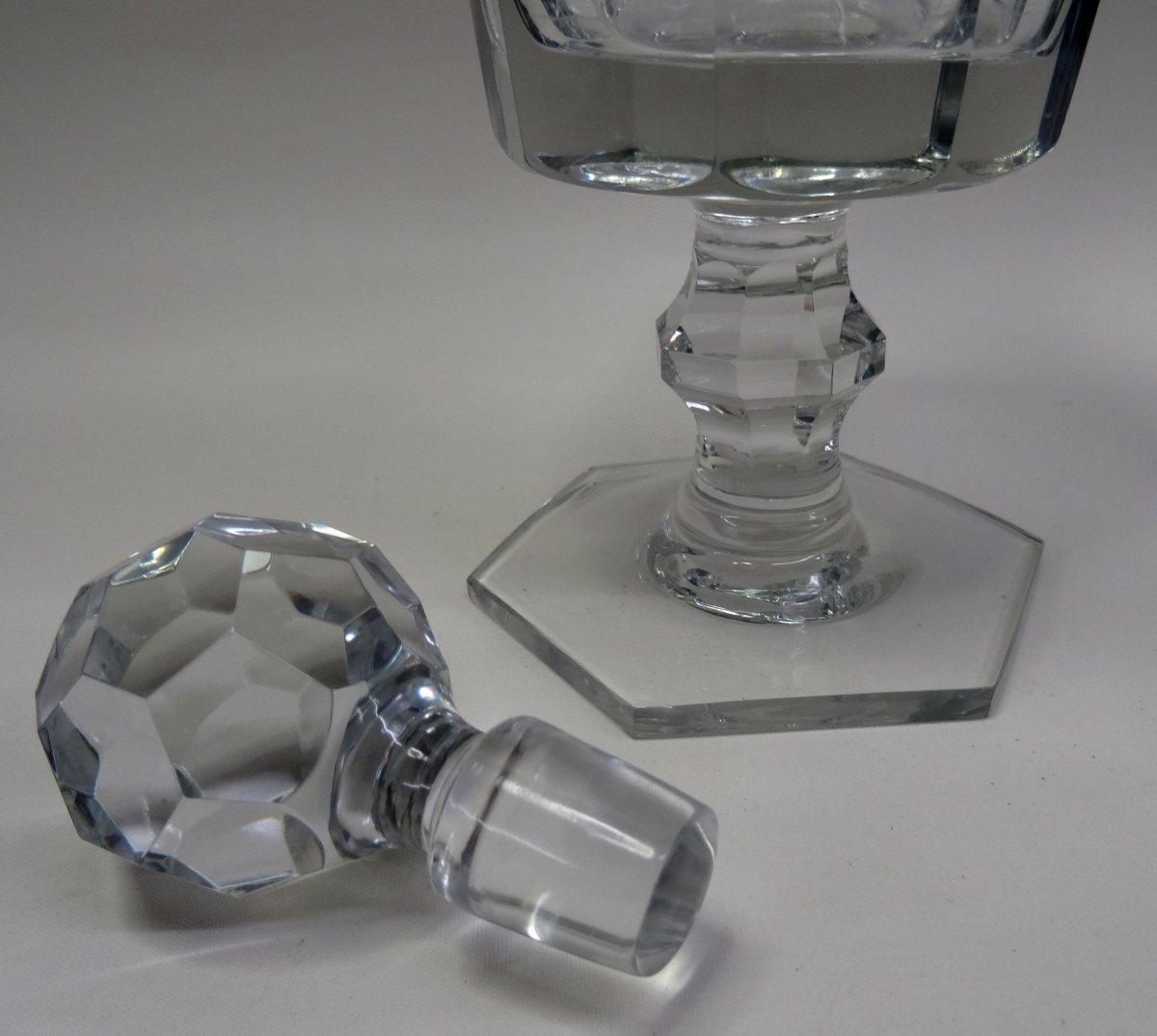 Exklusives Baccarat France Kristallglas geschliffene Likörglas Gold handgemalt