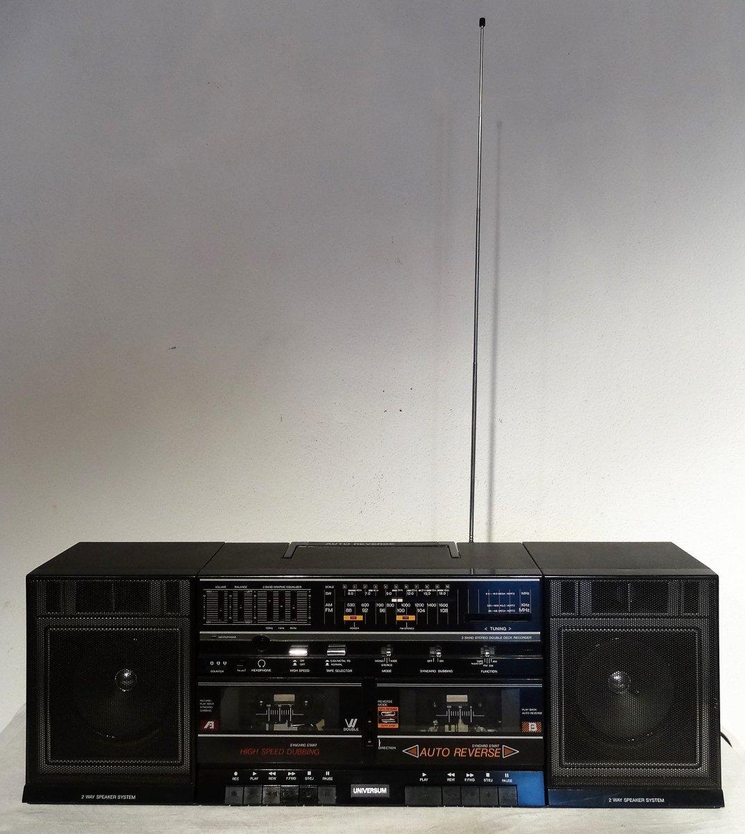 double stereo kassettenradio radio universum ctr 4673. Black Bedroom Furniture Sets. Home Design Ideas