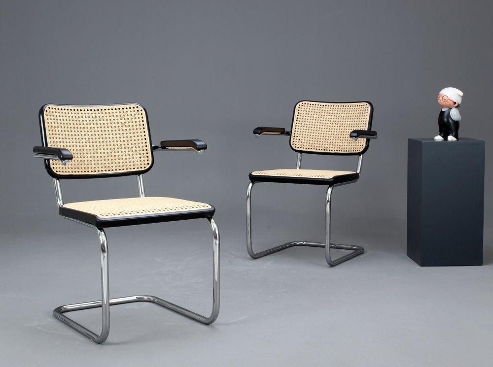 thonet s64 freischwinger bauhaus klassiker stuhl schwarz breuer chair ebay. Black Bedroom Furniture Sets. Home Design Ideas