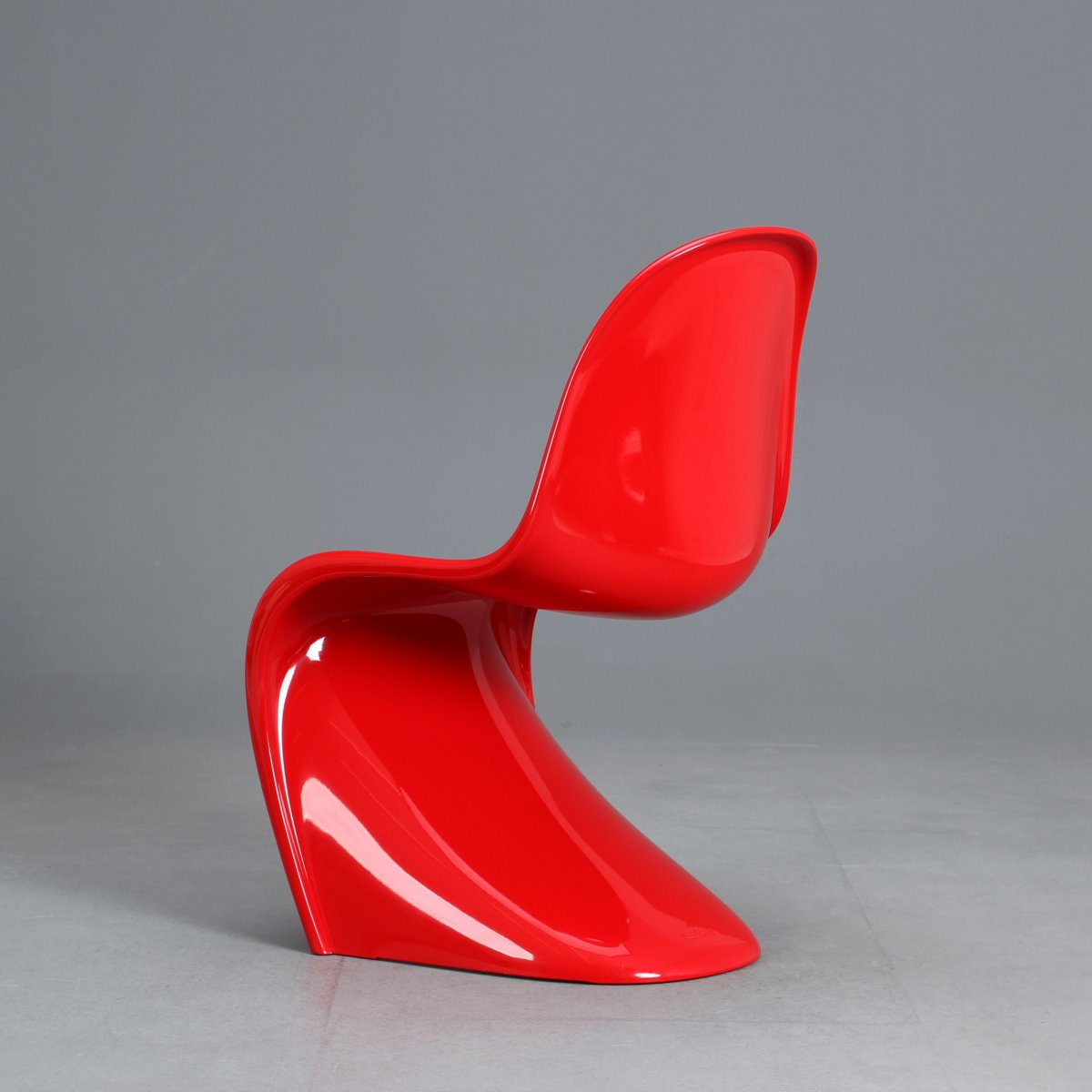 original vitra panton chair classic 2013 chaise par coll es rouge brillant ebay. Black Bedroom Furniture Sets. Home Design Ideas