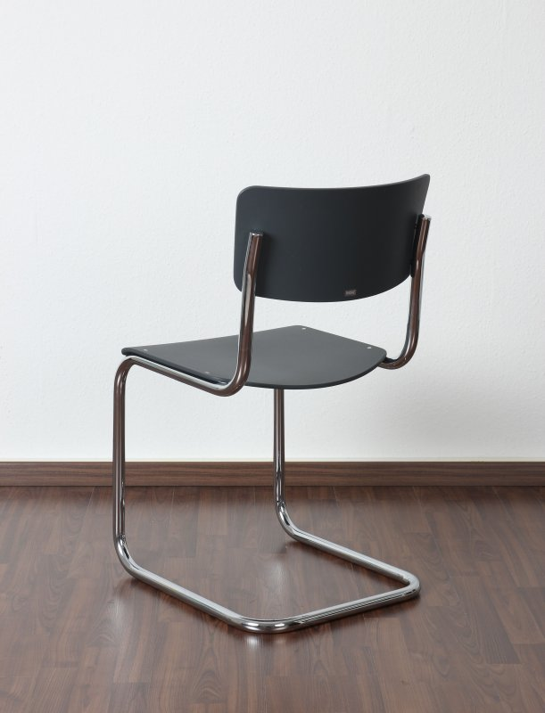 thonet s43 freischwinger bauhaus klassiker stuhl anthrazit mart stam chair ebay. Black Bedroom Furniture Sets. Home Design Ideas