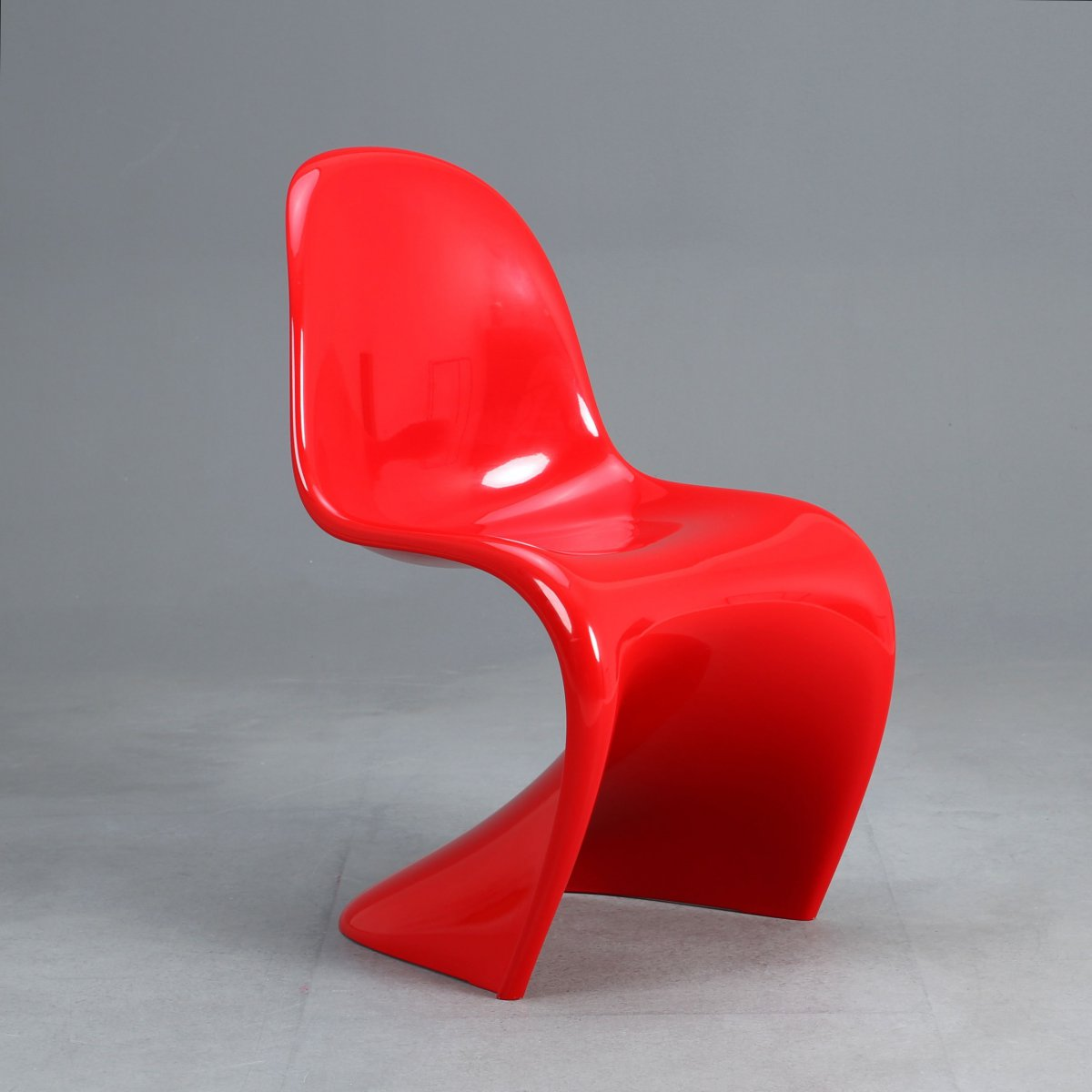 original vitra panton chair classic 2013 stuhl aus hartschaum rot hochglanz ebay. Black Bedroom Furniture Sets. Home Design Ideas