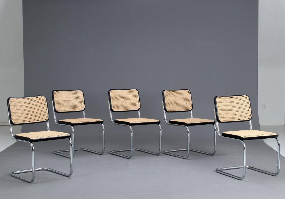 thonet s32 freischwinger bauhaus klassiker stuhl schwarz breuer chair ebay. Black Bedroom Furniture Sets. Home Design Ideas