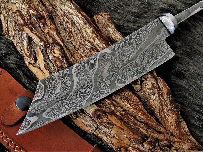 Damast Klinge.Küchen Messer Damascus Blank NEUE Maserung.1022