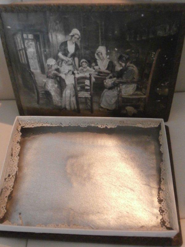 Blechschild Chocolat de Villars Fuchs Rabe Schokolade Schild Nostalgieschild