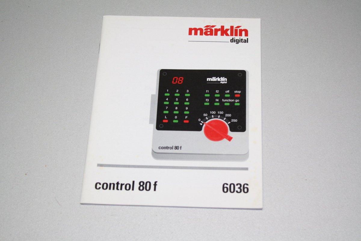 Marklin Digital Betriebsanleitung 6036 Control 80f Spur H0 Ebay