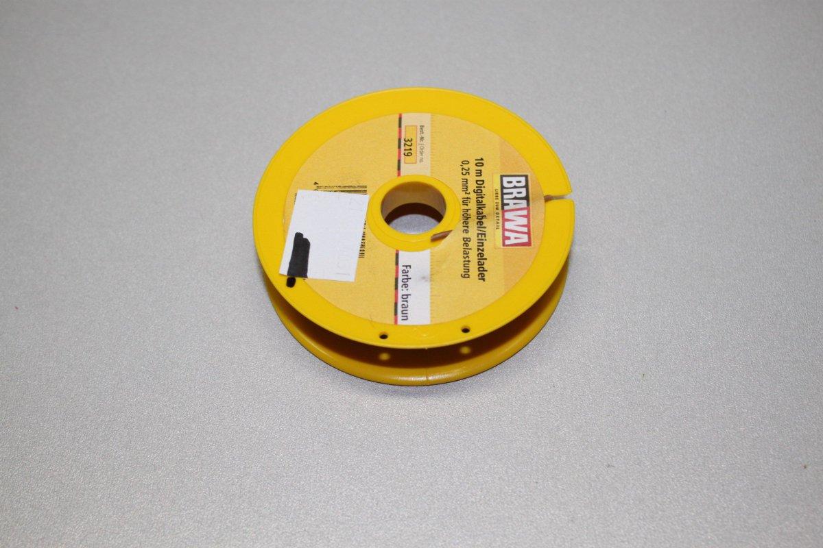 10 m Spule NEU Brawa 3219 Einzelader 0,25 mm² braun +