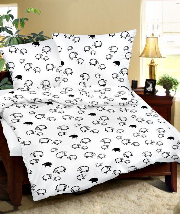 2tlg seersucker bettw sche 155 x 220 cm 100 baumwolle b gelfrei l mmer schafe ebay. Black Bedroom Furniture Sets. Home Design Ideas