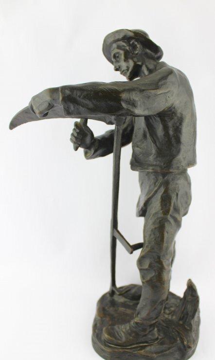 antike bronze skulptur hans m ller bauer sch rft sense. Black Bedroom Furniture Sets. Home Design Ideas