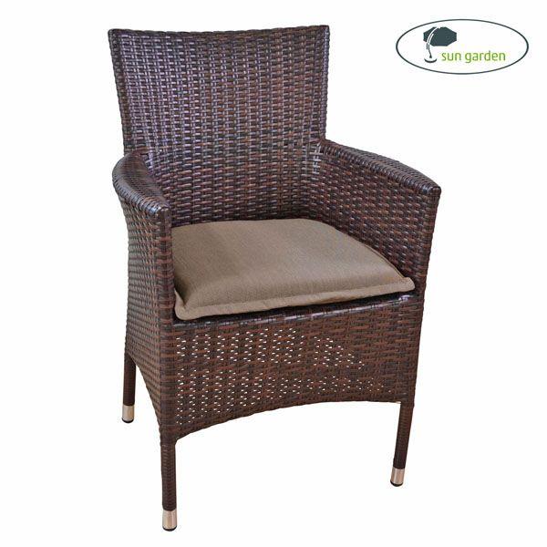 Sitzkissen mit Reißverschluss 47 x 46 x 6 cm in braun Bastia 50127-6