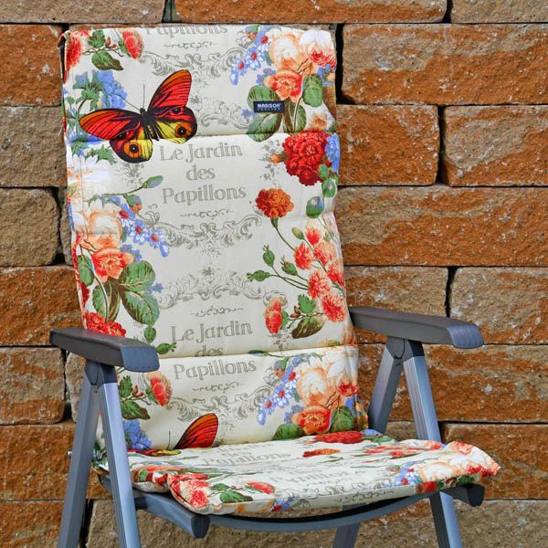 6 auflagen f r hochlehner sessel stuhl 123 x 50 cm madison malta red rot kissen ebay. Black Bedroom Furniture Sets. Home Design Ideas