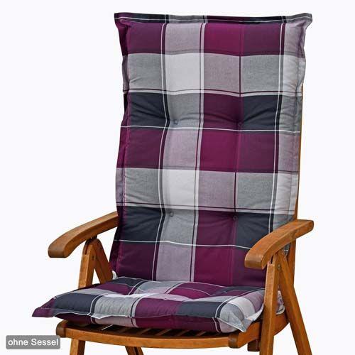 4 luxus auflagen f r hochlehner 120 cm lang 8 cm dick in lila sitzkissen kissen ebay. Black Bedroom Furniture Sets. Home Design Ideas