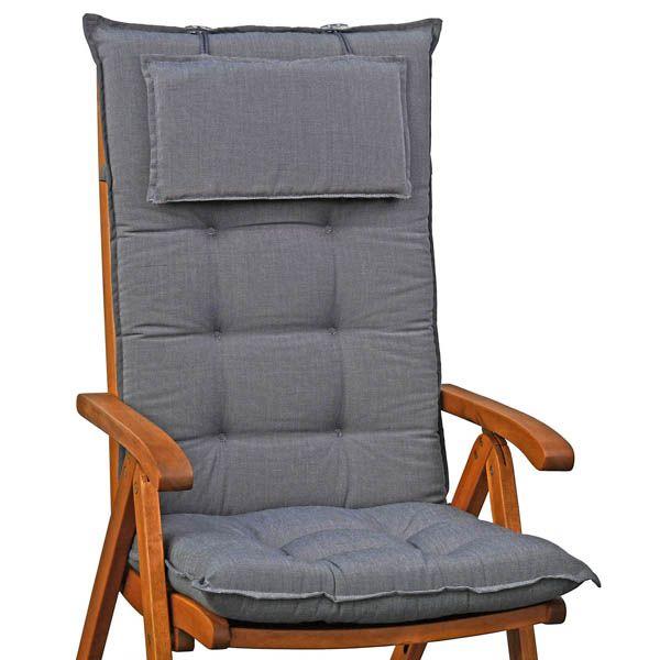 4 Luxus Hochlehner Sessel Auflagen mit Kopfpolster Miami