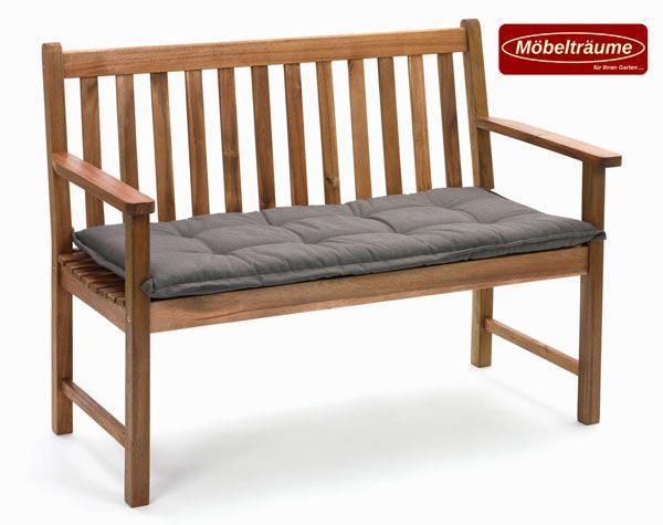 bankauflage 120 cm in uni taupe kissen polster auflagen fuer bank bankauflagen ebay. Black Bedroom Furniture Sets. Home Design Ideas