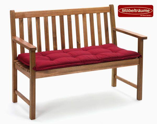 bankauflage 150 cm in uni rot kissen polster auflagen fuer. Black Bedroom Furniture Sets. Home Design Ideas
