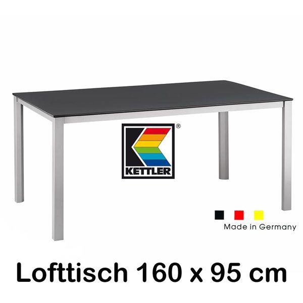 Kettler Gartentisch Tisch Lofttisch 8 Größen von 95 cm bis 279 cm ...
