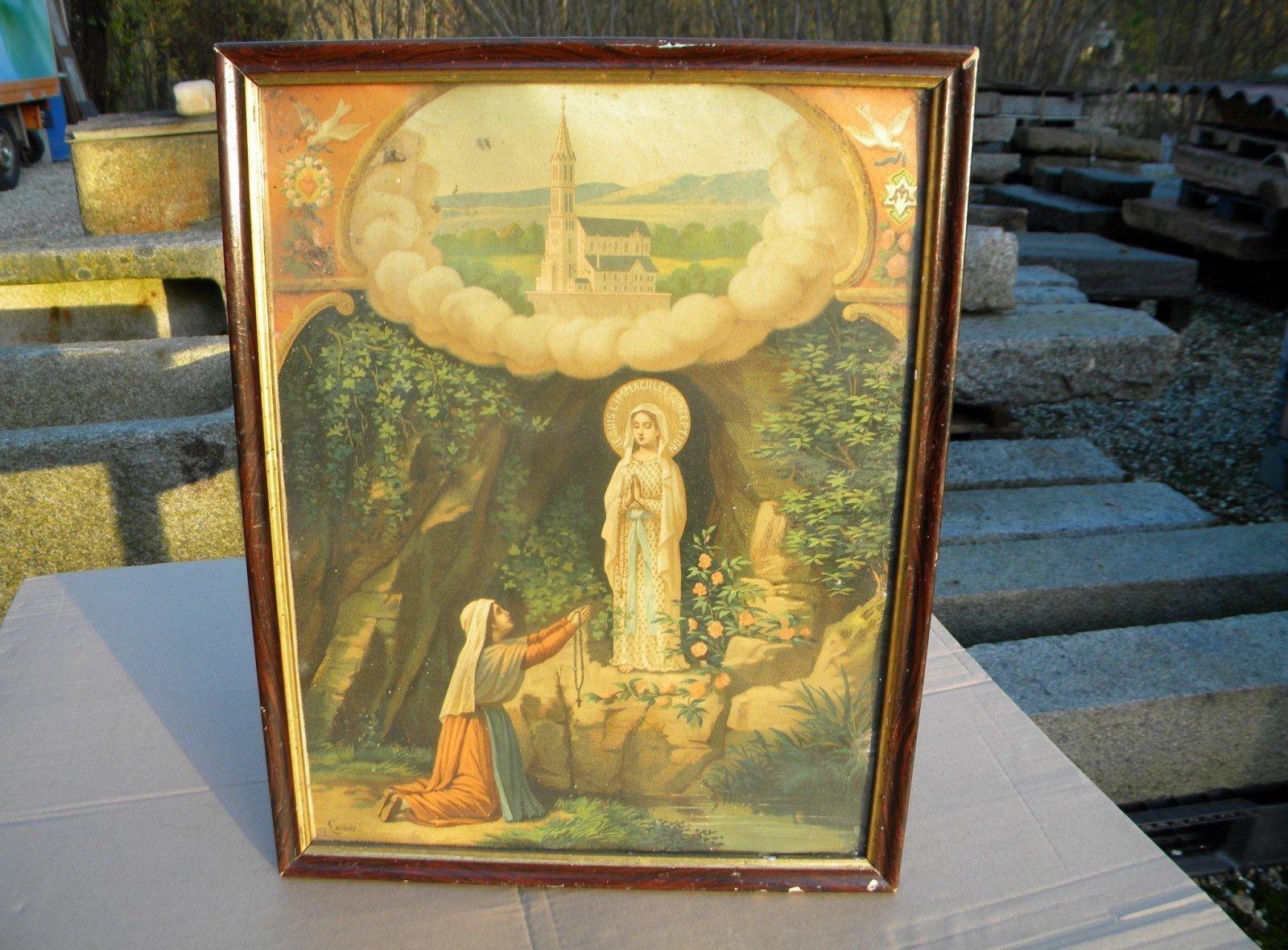 Heilige Maria Mutter Gottes von Lourdes Bernadette Soubirou Metall Plakette S1
