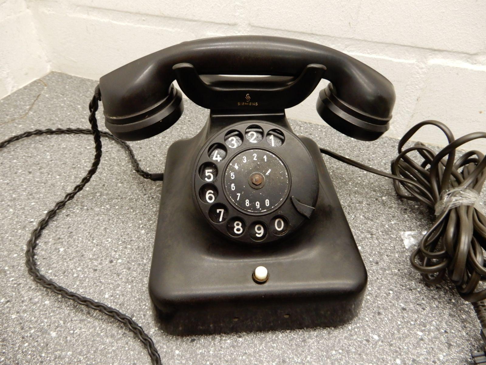 siemens altes telefon telephone mit w hlscheibe bakelit ebay. Black Bedroom Furniture Sets. Home Design Ideas