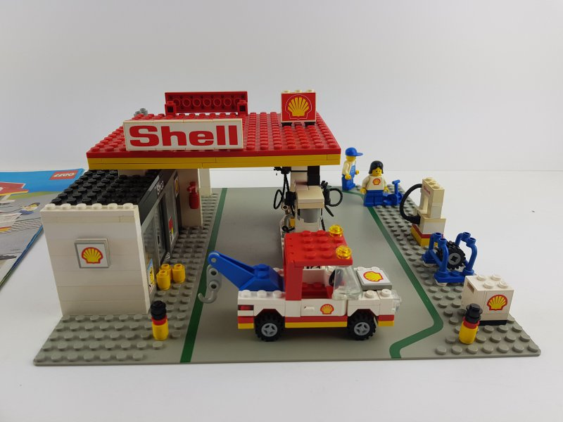 lego 6378 classic town city shell tankstelle mit original. Black Bedroom Furniture Sets. Home Design Ideas