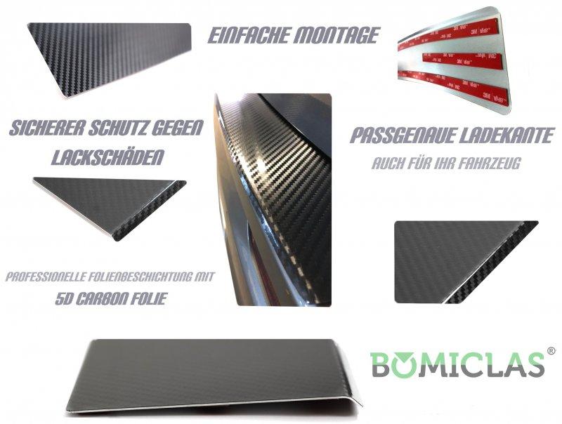 BOMICLAS Ladekantenschutz Aluminium 5D Carbon glänzend Ford Kuga 2 bis Bj.2018