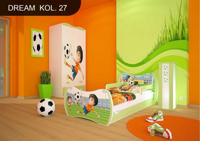 dm kinderbett gr n mit matratze bettkasten und lattenrost. Black Bedroom Furniture Sets. Home Design Ideas