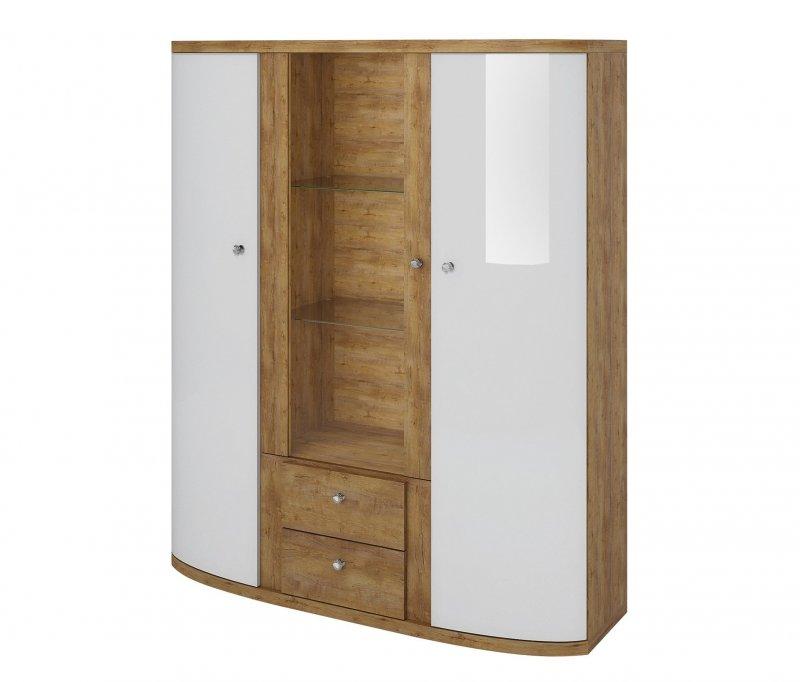 wohnwand schrankwand wohnzimmer m bel fabio weiss. Black Bedroom Furniture Sets. Home Design Ideas