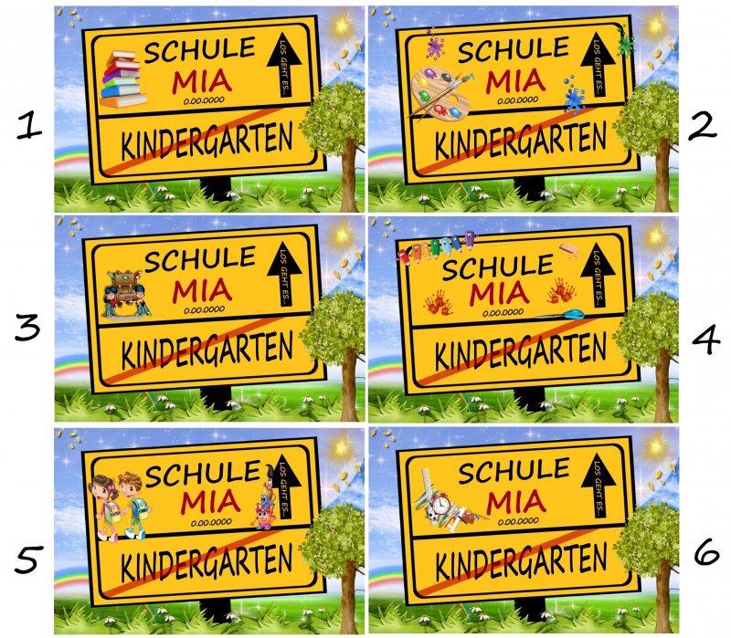 0e7f570bfbab7 Schild Kindergarten   Schule - Bild Geschenk Schule Einschulung ...