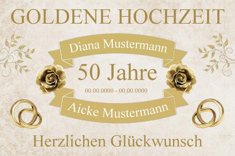 Urkunde Individuell Foto Namen Datum A4 Jahre Goldene