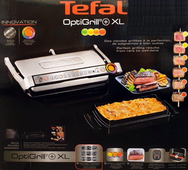 2 Tefal GC712D12 Optigrill plus Plus-Modell mit zusätzlichen Temperaturstufen