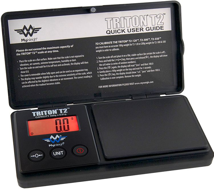 0,1g Digitalwaage Feinwaage Münzwaage MyWeigh Triton T2 XL Taschenwaage 1000g