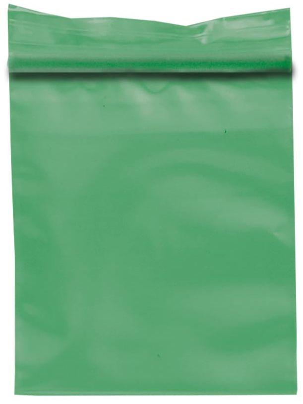 Zip Beutel 40x45mm 50µ grün transparent mit Schnellverschluß Druckverschluß