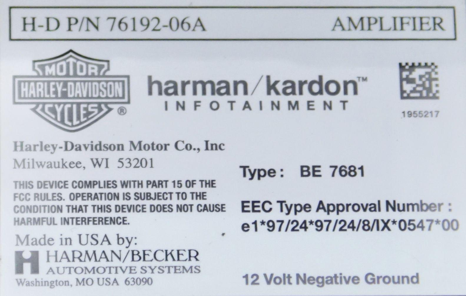 Harman Kardon Harley Davidson Amplifier – Home Exsplore on