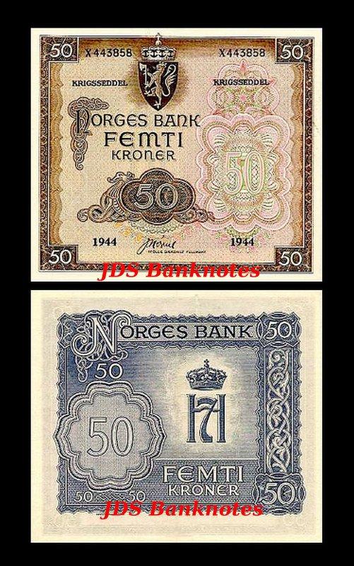 UNC Reproduction Norge 500 Kroner 1966