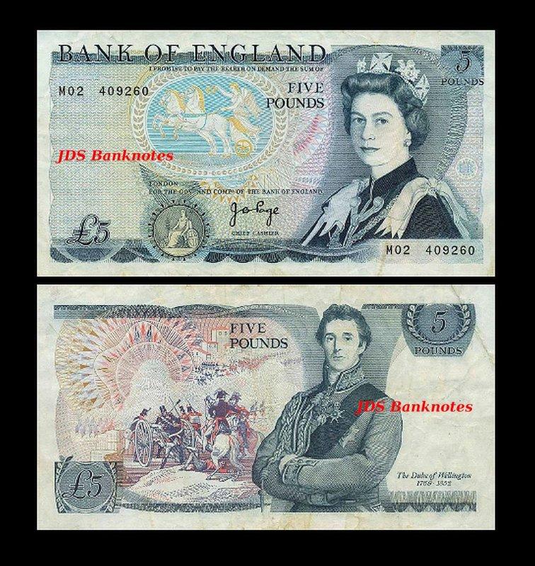 Englische Geldscheine