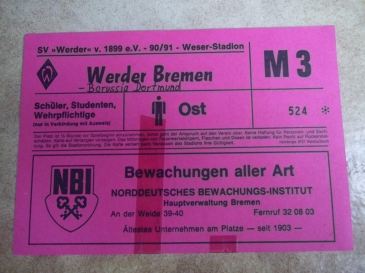 Werder Dortmund Tickets