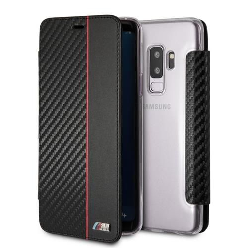 bmw m carbon look book case samsung s9 plus cover. Black Bedroom Furniture Sets. Home Design Ideas