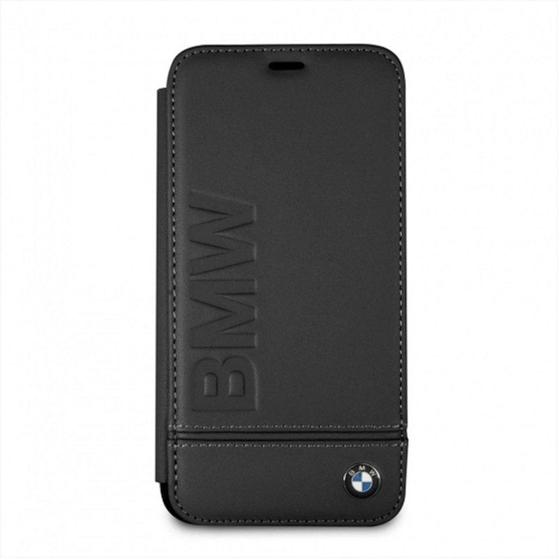 bmw iphone xr leder cover book case tasche logo schwarz. Black Bedroom Furniture Sets. Home Design Ideas