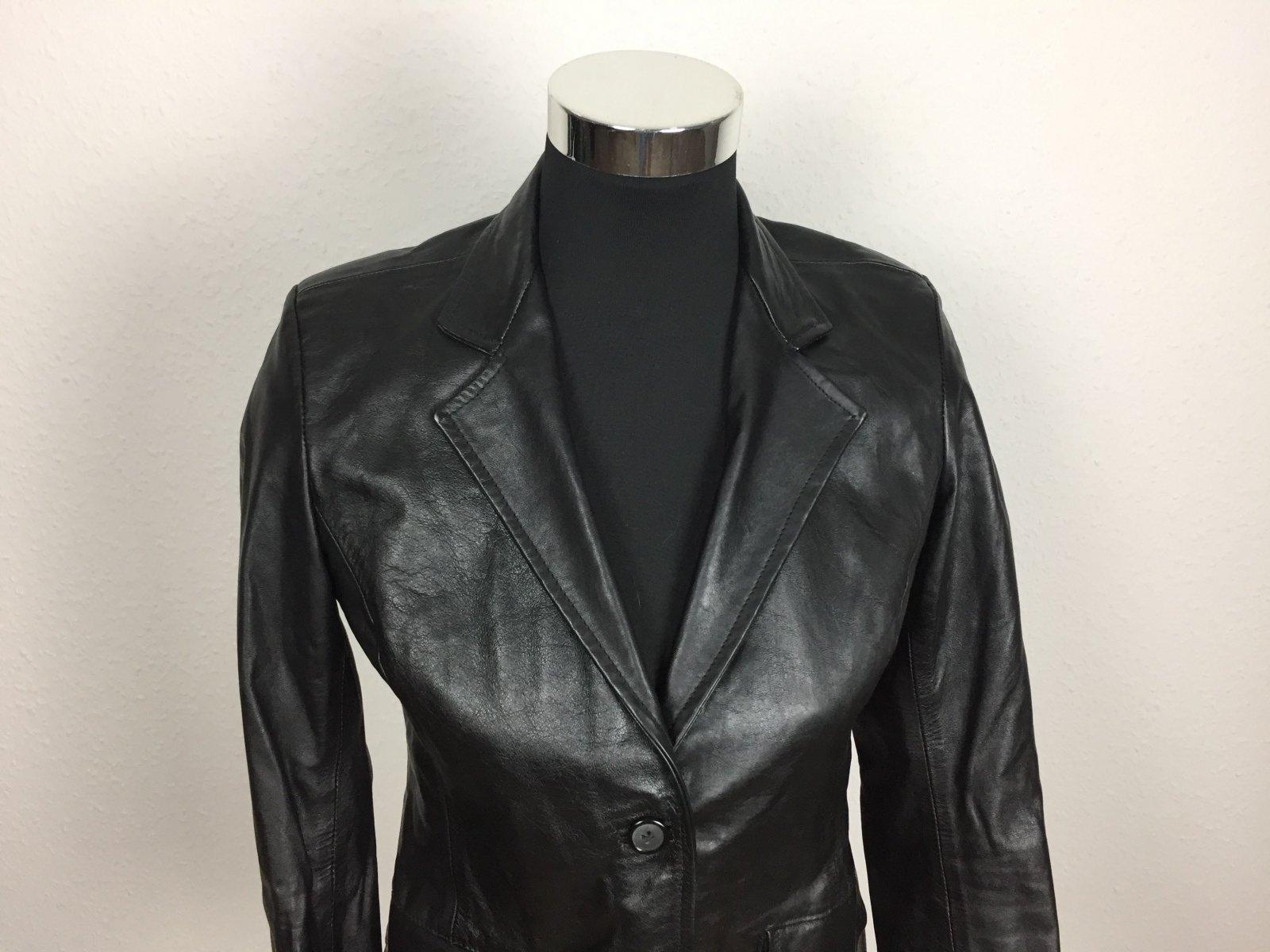 luxus damen lederjacke jacke blazer weich 100 leder. Black Bedroom Furniture Sets. Home Design Ideas
