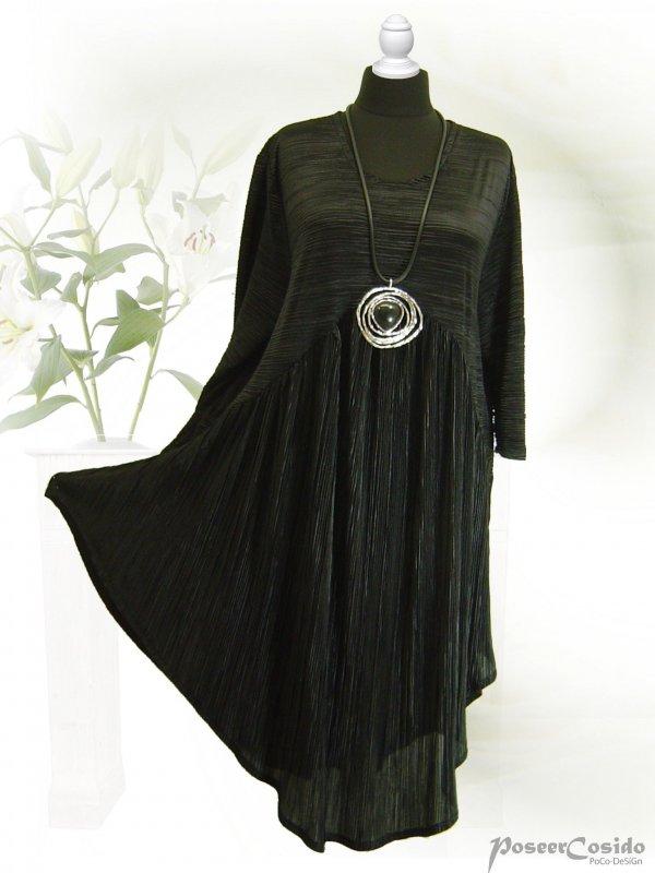 Poco design lagenlook plissee jersey tunika long shirt for Poco plissee