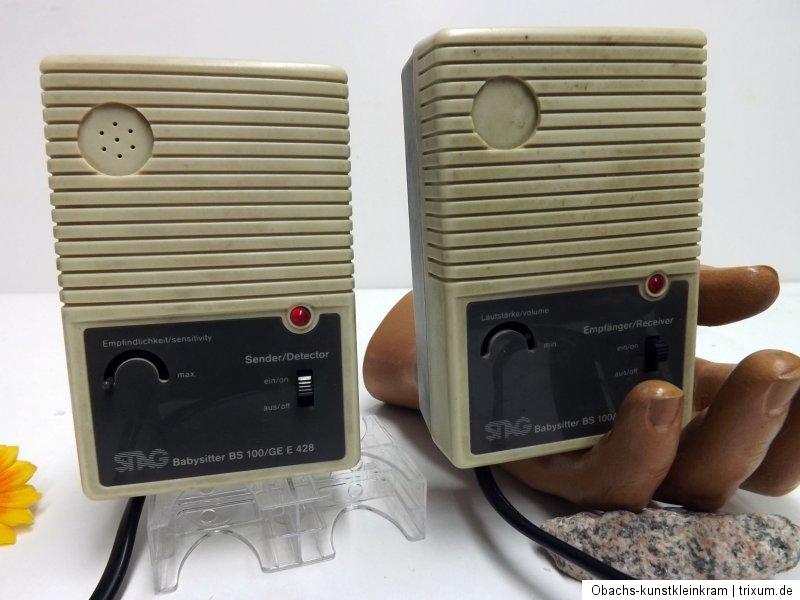 stag babysitter bs 100 ge e 428 und akustikmelder retro babyphone berwachung ebay. Black Bedroom Furniture Sets. Home Design Ideas