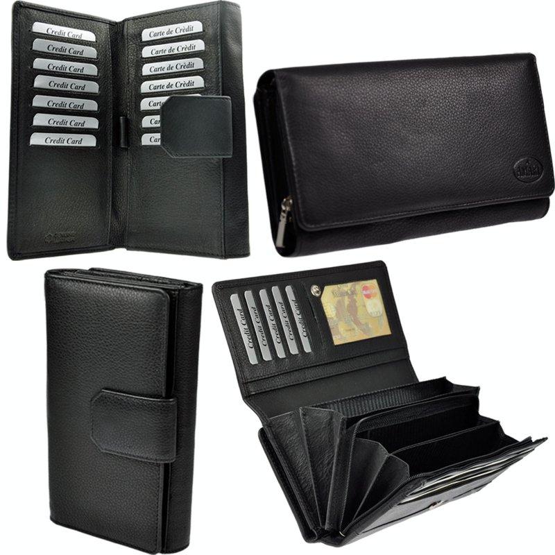 AMARI kleine Geldbörse Nappaleder Portemonnaie Geldbeutel 6 Kartenfächer Herren